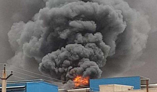 fire in bikaji Bhujia factory of Bikaner