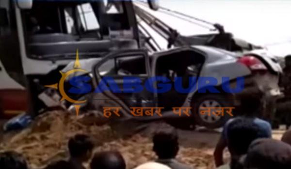 Couple dies in car-bus collision in Bikaner