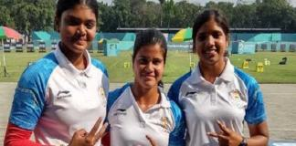 Indian compound women archery team gets silver medal