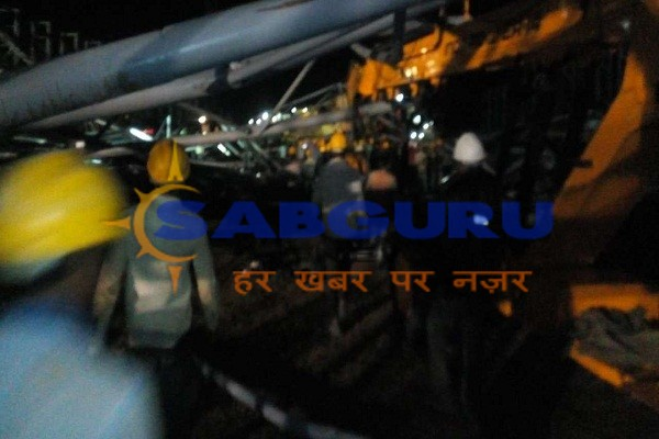 Six laborers died due to crane collapse in Karnataka