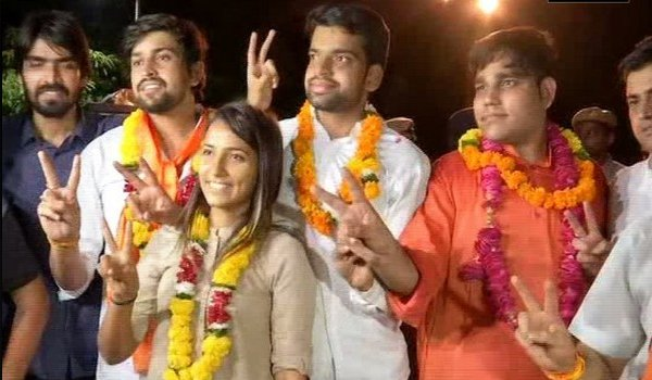 DUSU election 2018 results : ABVP wins 3 posts, NSUI bags one