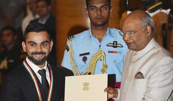 Virat Kohli and Mirabai Chanu conferred khel ratna, neeraj chopra, hima das get Arjuna award