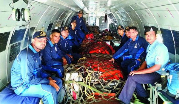 Indian Navy diver conduct search for missing family in Assam
