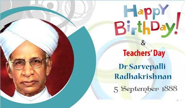 dr sarvepalli radhakrishnan was born on 5 september