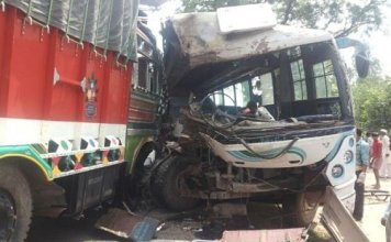 four killed, 12 injured in bus-truck collision in Aligarh
