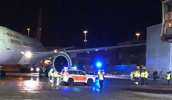 Air India plane with 179 onboard hits building at stockholm airport