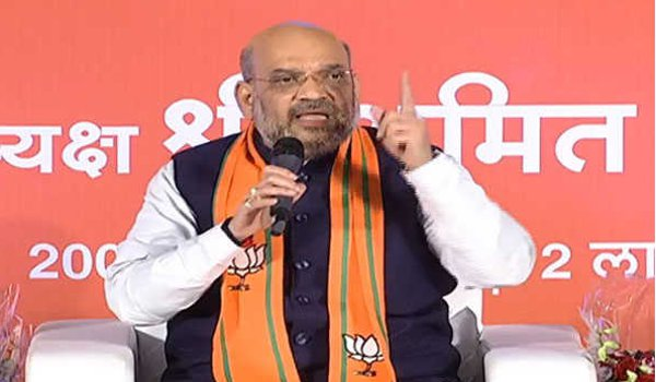 BJP President Amit Shah interacts with youth of state in jaipur
