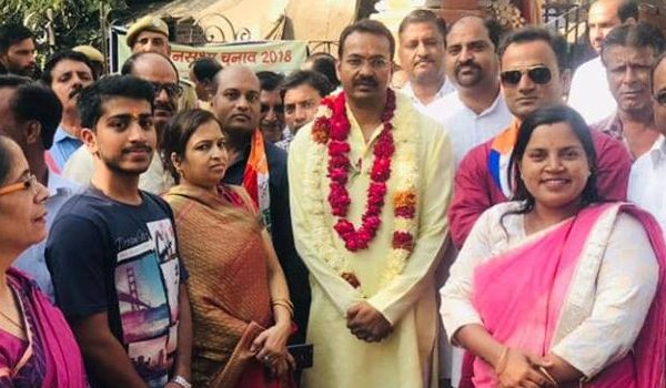 bharat vahini party candidate Vimal Agarwal filles nomination from Havamahal assembly constituency