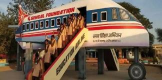 Airplane class room in Alwar of attraction