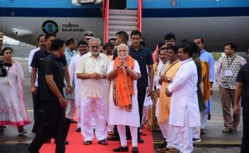 Modi arrives in Bhubaneswar Many development plans will be inaugurated