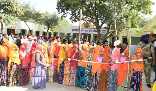 72 percent polling in rajasthan