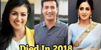 Bollywood celebs that passed away in 2018