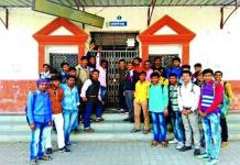 Students locked up Babu Shobaram College in alwer