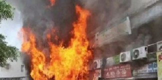 Gas cylinders explosion in shop on gas income tax circle in Ahmedabad