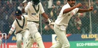 Anil Kumble's achievement of taking all the 10 wickets in an innings of 20 years