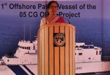 Nirmala Sitharaman says on Defense equipment manufacturing in ceremony of patrol vessel