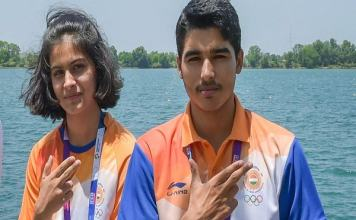 Saurabh Chaudhary and Manu Bhaker win Gold Medal in Pistol Mixed Team Competition