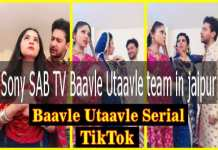 Sony SAB TV Baavle Utaavle team in jaipur