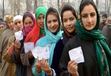 24.66 percent polling in Jammu and Kashmir