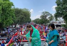Poonam Sinha did road show after filing nomination from Lucknow