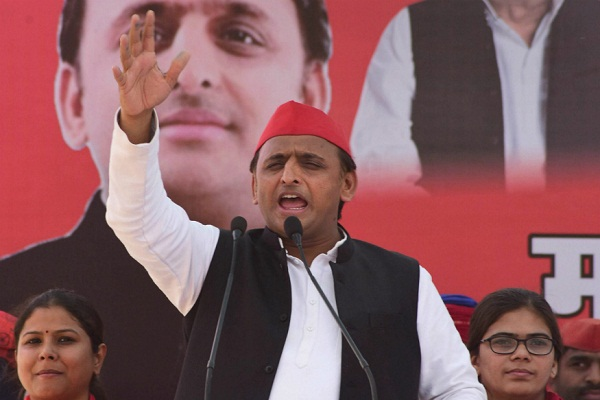 Akhilesh Yadav blame BJP doing SP-BSP workers for red card
