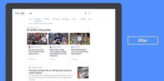Google new news tab