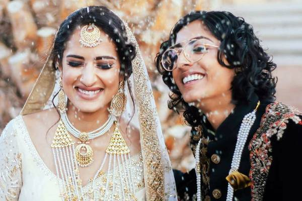 india pakistan lesbian couple-tied-knot-in-california