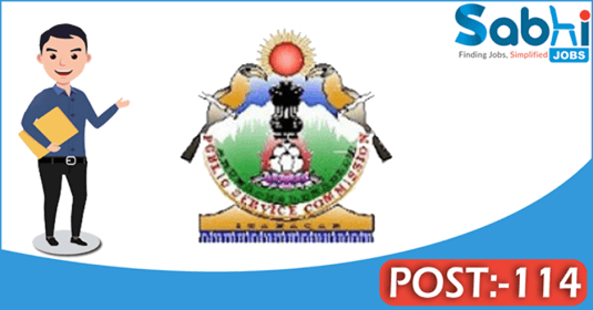 Arunachal Pradesh PSC recruitment 114 Junior Engineer