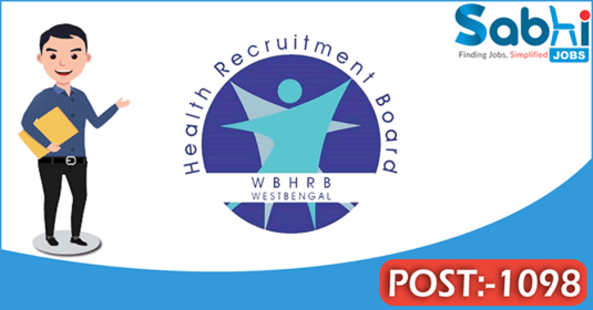 WBHRB recruitment 1098 General Duty Medical Officer