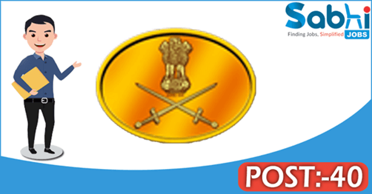 Indian Army recruitment 40 Technical Graduate Course