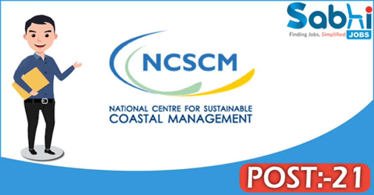NCSCM recruitment 2018 notification Apply online 21 Scientist, Librarian