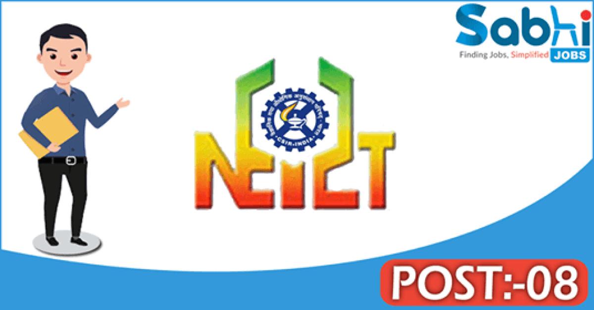 NEIST recruitment 2018 notification Apply for 08 RA, JRF