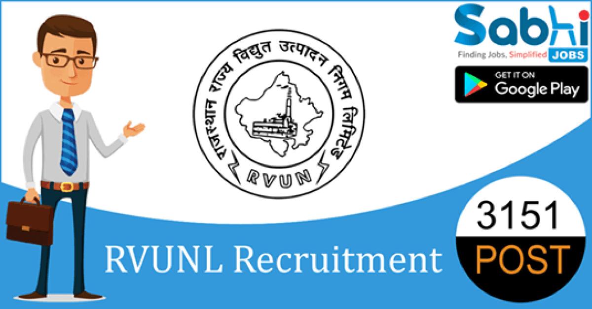 RVUNL recruitment 3151 Assistant Personal Officer