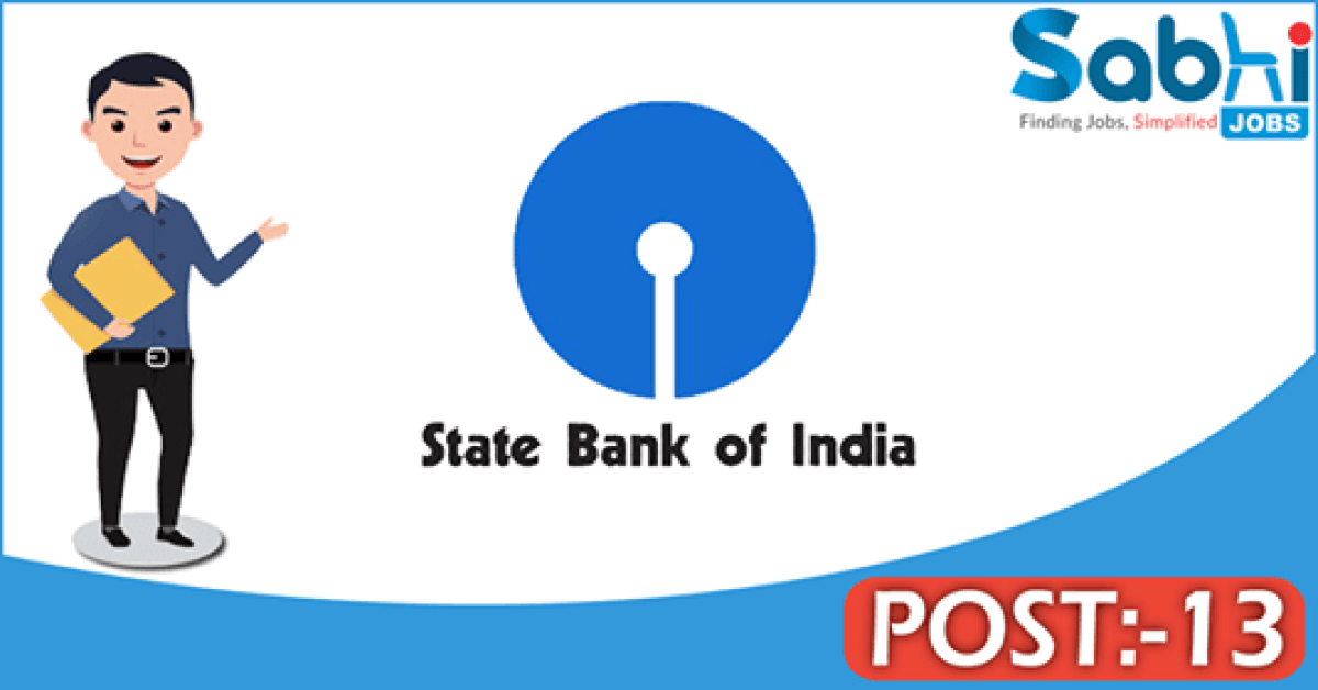 SBI recruitment 13 Specialist Cadre Officers