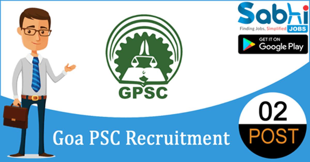 Goa PSC recruitment 02 Assistant Director