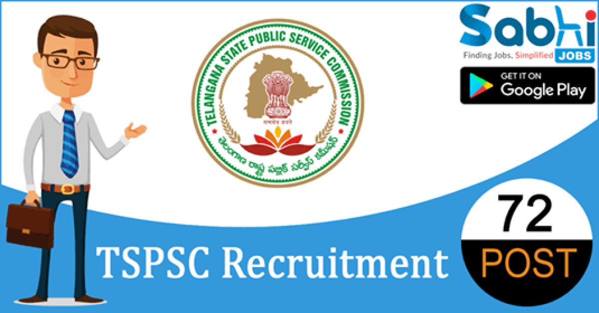 TSPSC recruitment 72 Junior Assistant