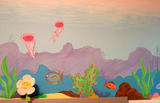 cool fresques murales peinture murale enfants fonds marins with peinture murale chambre enfant