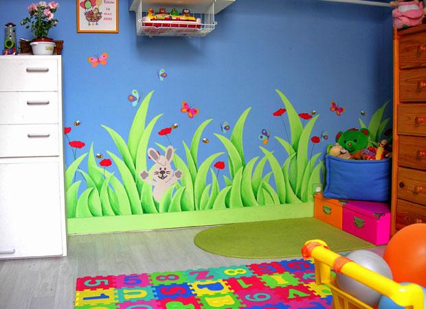 simple fresques murales peinture murale enfants champtre with fresque murale chambre fille