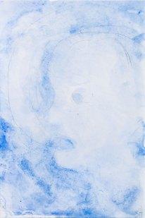 Sabine Herrmann, wolken 2020, Aquarell auf Karton, 2020, 15 x 10 cm