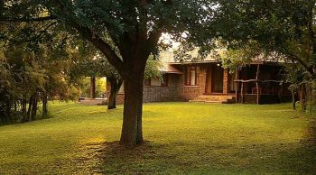 Idube Game Lodge Front Lawn