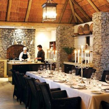 Londolozi Pioneer Camp Accommodation Luxury Suite Dining Table