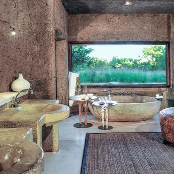 Sabi Sabi Earth Lodge Amber Suite Bathroom