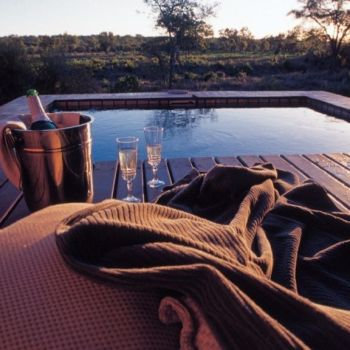 Simbambili Game Lodge Plung Pool Evening