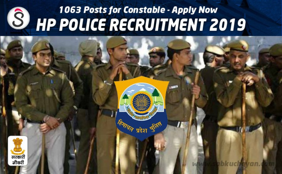 hp police recruitment 2019 constable posts