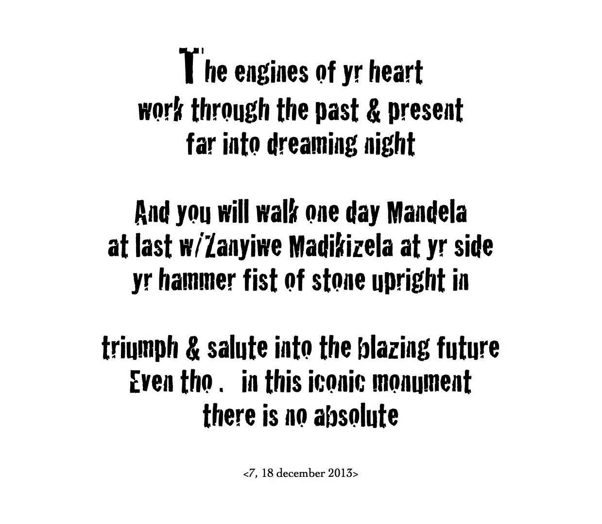 Oriki for Nelson Mandela by Kamau Brathwaite
