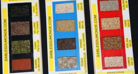 présentation des sables