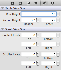 Setting the table view row height