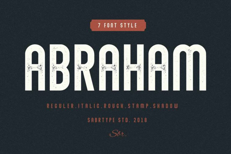 Preview image of Abraham Regular