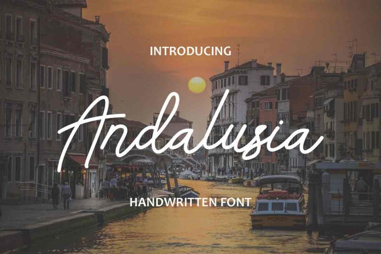 Preview image of Andalusia – Handwritten Font