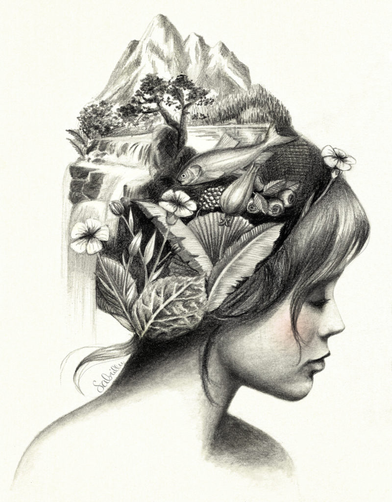 Graphite Portrait Nature Earth